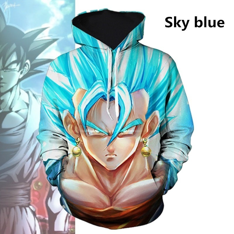 Men Women Casual Hoodies 3D Print Dragon Ball Autumn and Winter Fashion Sport Hooded Seatshirts Plus Size S-5XL