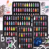 12/24/48 bottles/set Confetti/Round Caviar Beads/Stars/Heart/Sequins For Craft Scrapbooking DIY Jewelry Project Epoxy Fillers