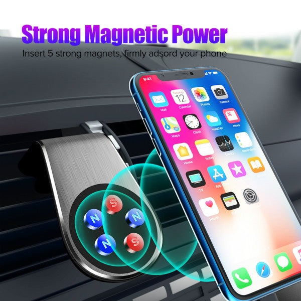 Air Vent Mount Car Phone Holder Magnetic Cell Phone Stand