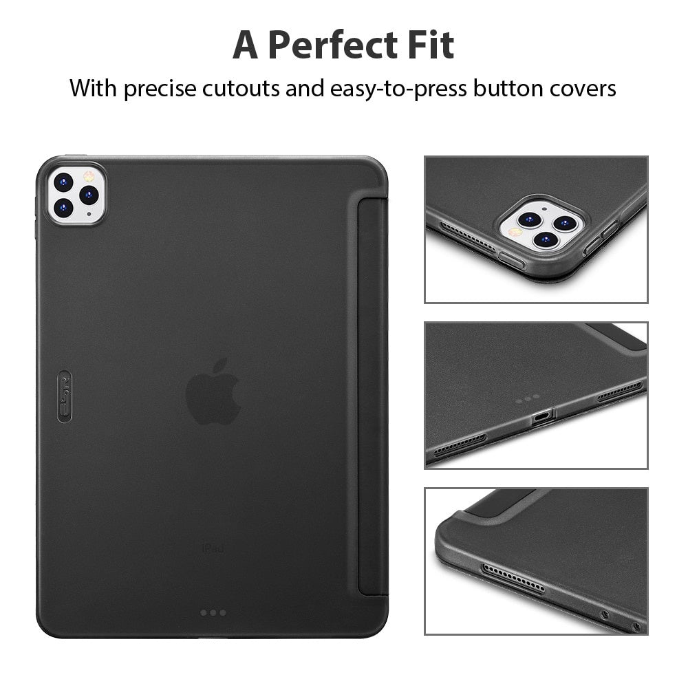 iPad Cover for 2020 iPad Pro 11/12.9 Inch 2nd 4th Generation Soft TPU Touch Auto Wake Sleep Smart Case Flexible Cover Case