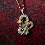 Men's 18K Gold Dragon Pendant Makeup Gold Plate Dragon Pendant Women's 925 Silver Domineering Zodiac Dragon Necklace