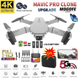 2020 New E88 Pro Remote Control Drone 720P/1080P/4K HD Single/Dual Camera Optical Flow Positioning WiFi FPV Helicopter RC Quadcopter Selfie RC Drone Quadcopters RTF with Real Time Video with 1/2/3 Batteries and Free Gift Drone Bag