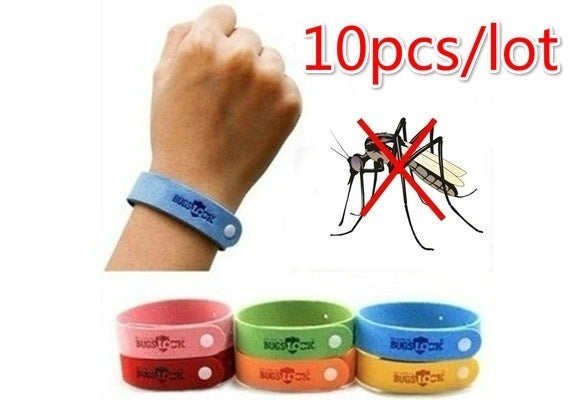 10pcsNon-toxic Mosquito Pest Bracelet From Mosquito Repellent Bracelet Baby Child Wristband Mosquito Repellent Trap Outdoor (Color: Multicolor)
