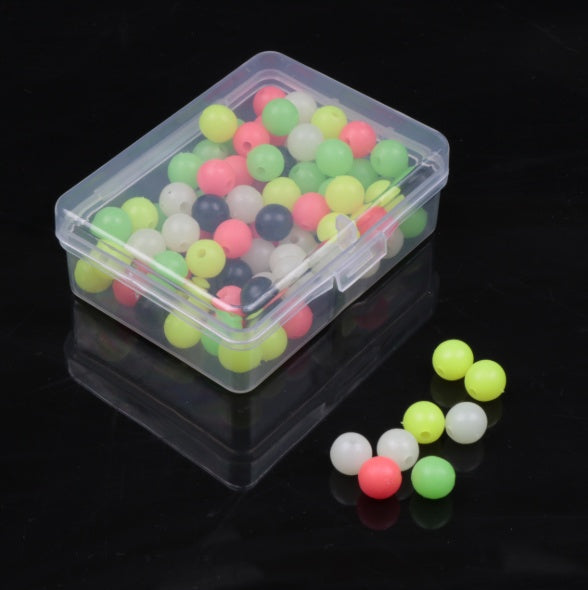 100/200pcs Round Luminous Fishing Beads Glow InThe Dark Sea Fishing Lure Floating Float Tackle Accessories Luminous Fishing Beads