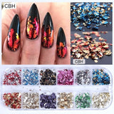 1 or 12 Grids/Set Mixed Color Holographic Nail Stickers Decals Starry Sky Transparent Nail Foils Tinfoil Paper Nail Glitter Flakes 3D Sequins Paillette Powder Nail Art Decoration Manicure Accessories