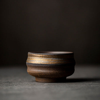JADELY Earthtones Hand-Brushed Ceramic Teacup