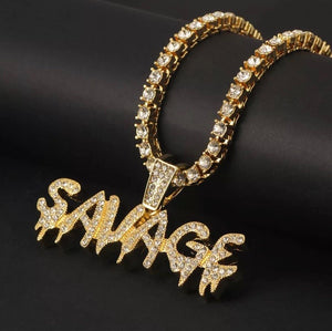 Savage Pendant (+ Free Chain)