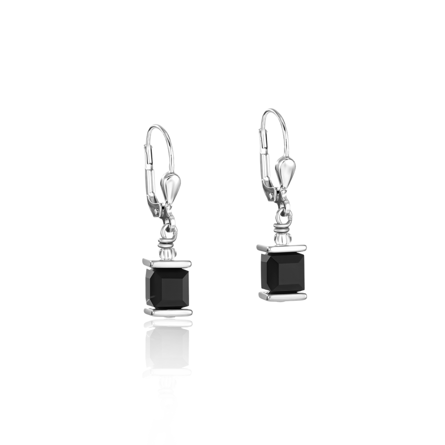 Earrings Swarovski® Crystals GeoCUBE® black