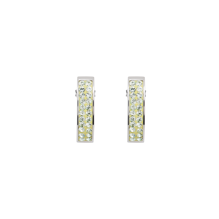 Earrings crystals pavé light green