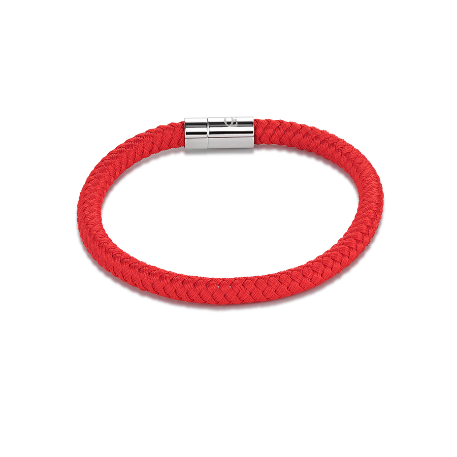 Bracelet textile braided red