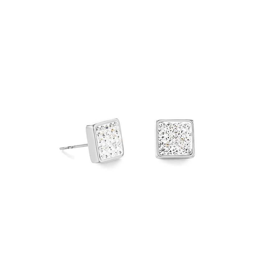Earrings stainless steel & crystals pavé crystal