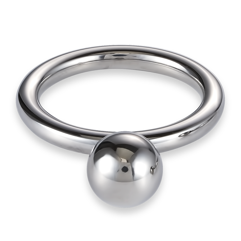 Ring stainless steel ball small silver