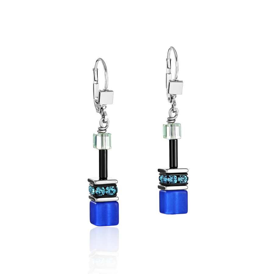 GeoCUBE® Earrings blue-green