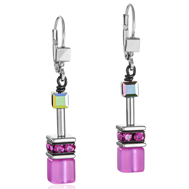 GeoCUBE® Earrings pink