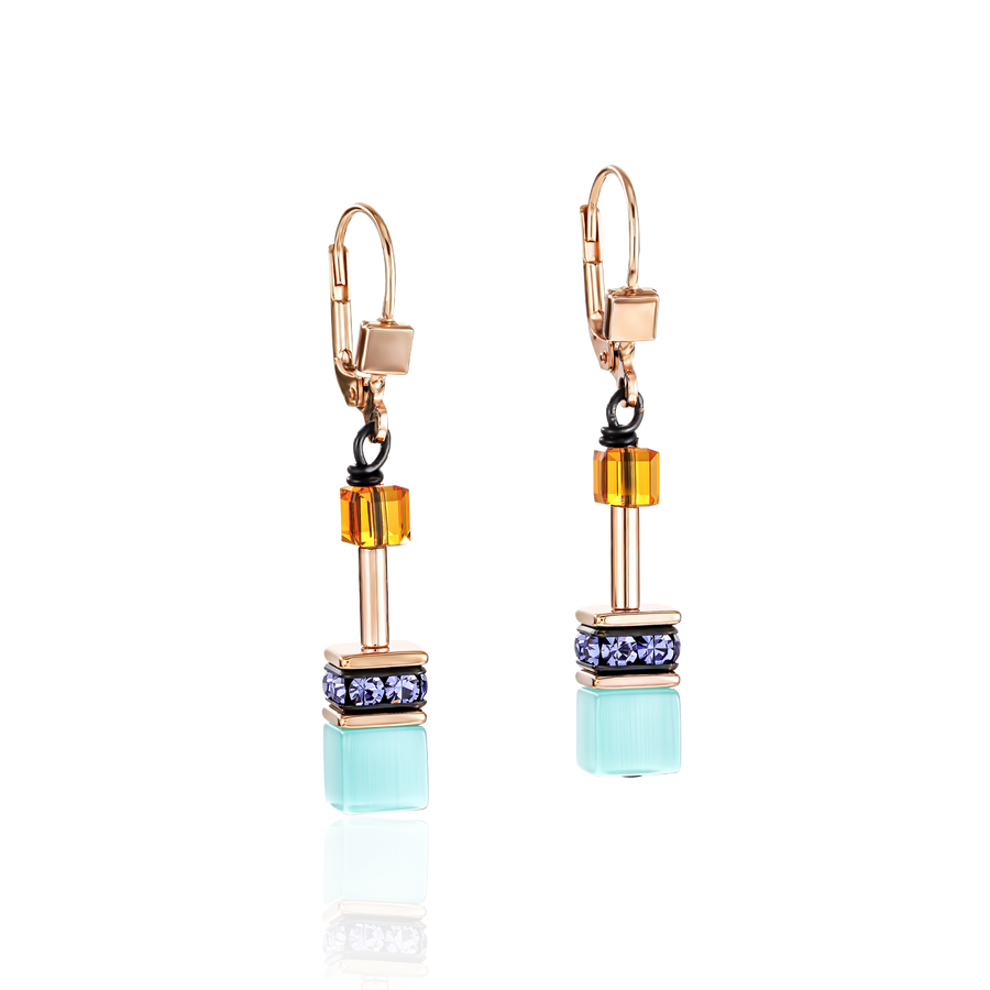 GeoCUBE® Earrings multicolour Couture 2