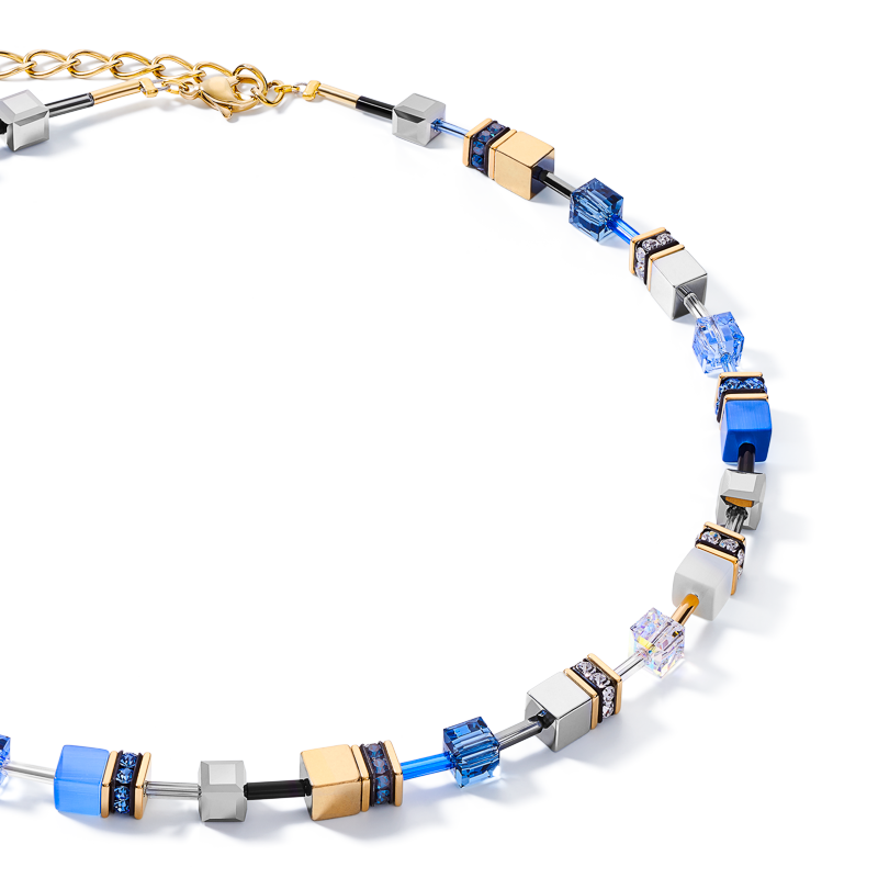 GeoCUBE® Necklace blue-gold