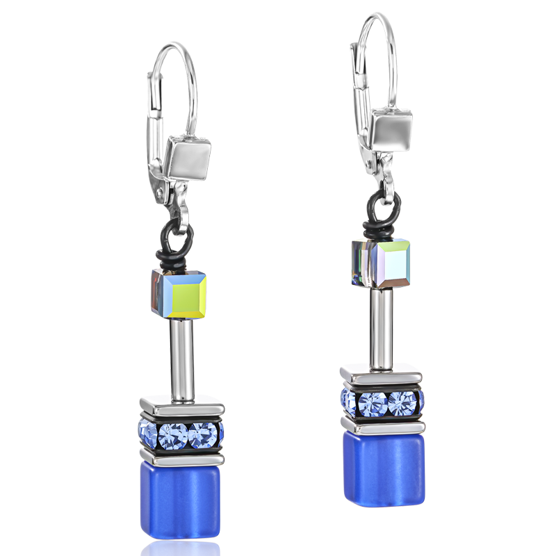 GeoCUBE® Earrings cobalt blue