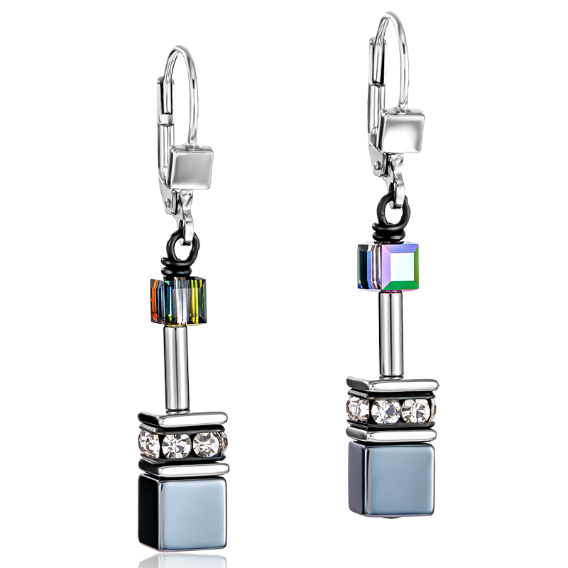 GeoCUBE® Earrings haematite