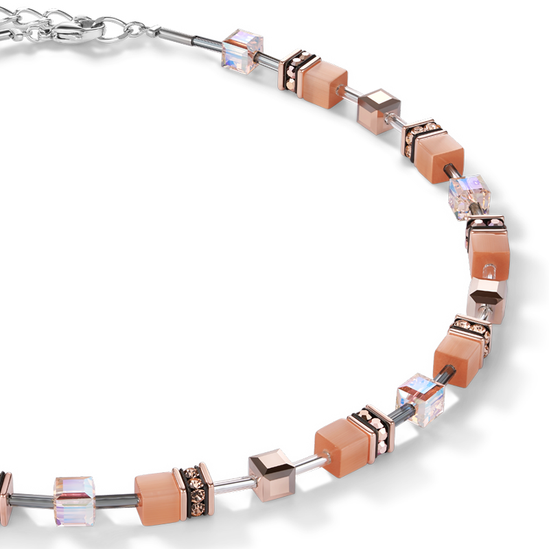 GeoCUBE® Necklace peach
