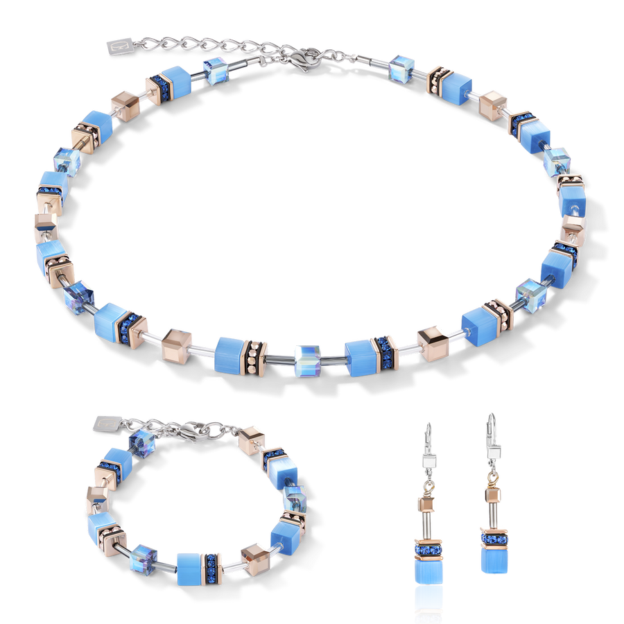 GeoCUBE® Necklace blue