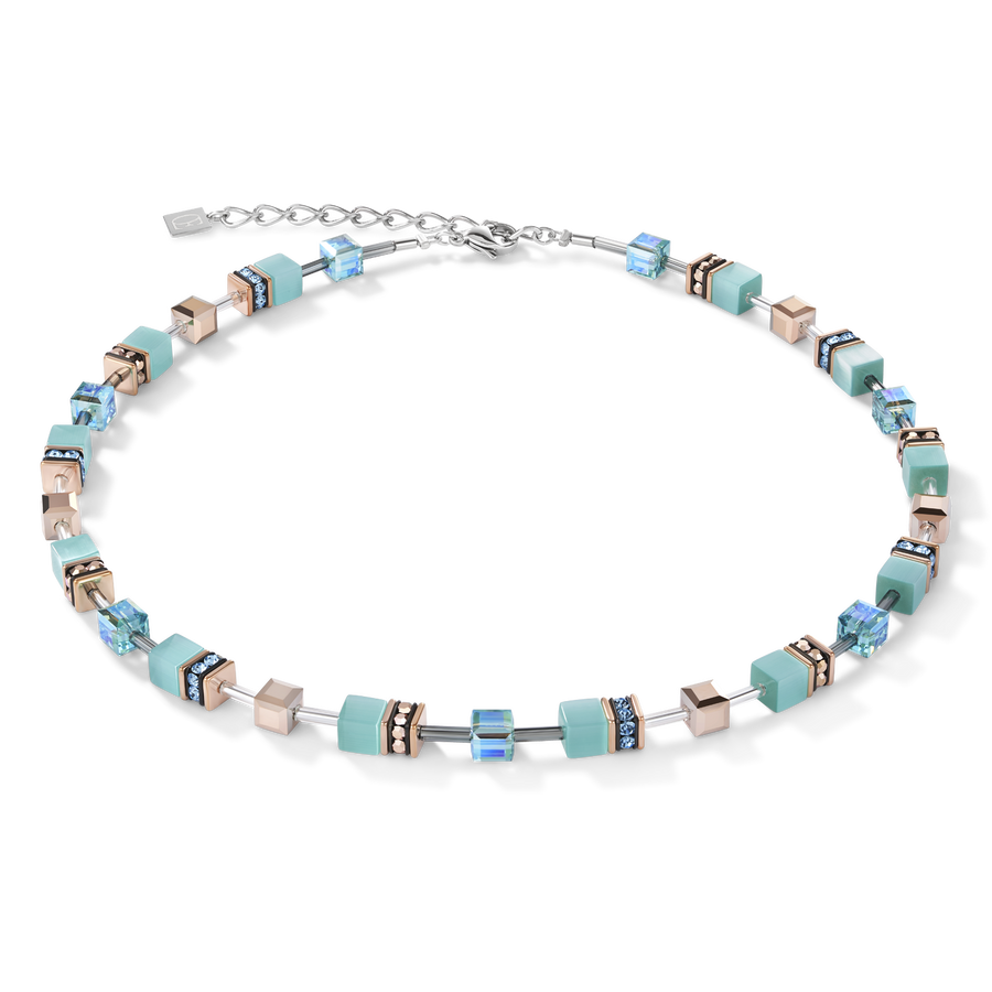 GeoCUBE® Necklace aqua