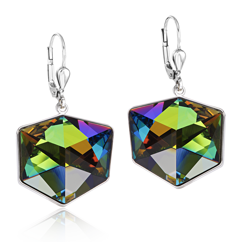 Earrings Swarovski® Crystals multicolour