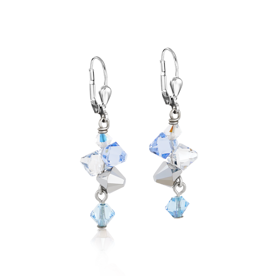 Earrings Swarovski® Crystals & stainless steel light blue