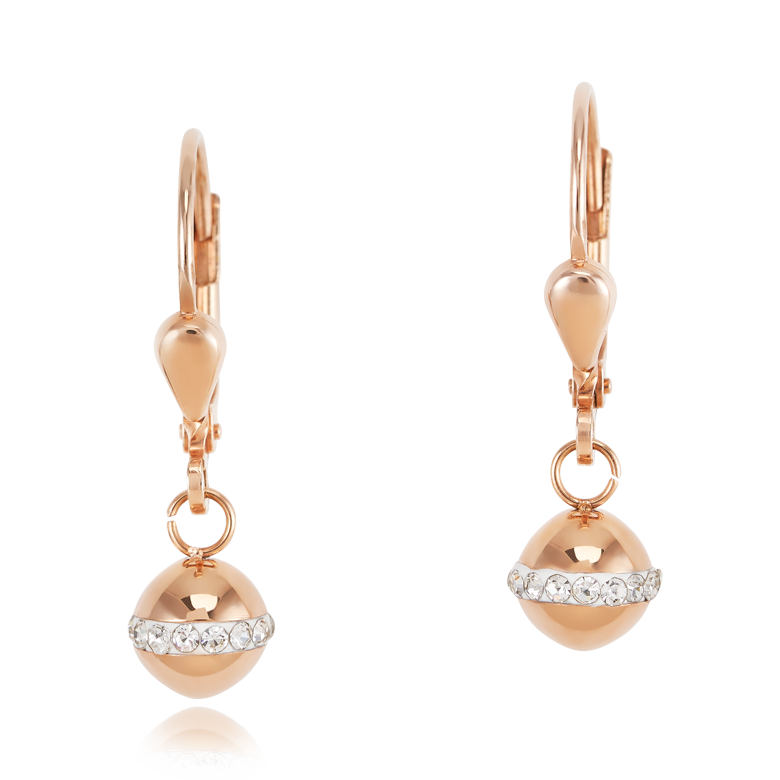 Earrings Stainless steel ball rose gold