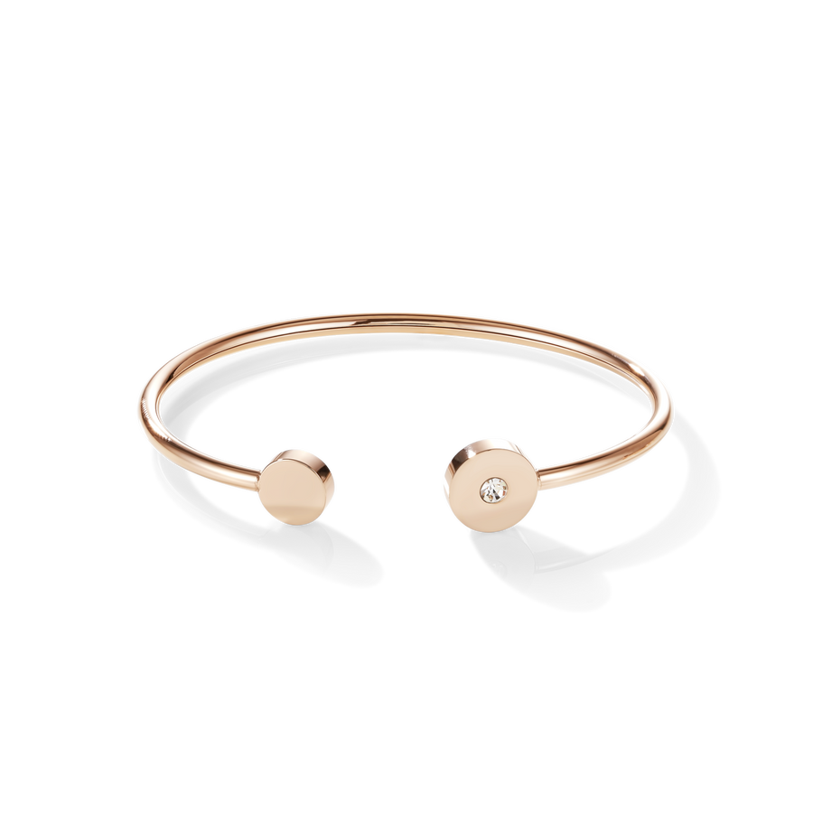 Bangle SparklingCOINS stainless steel rose gold