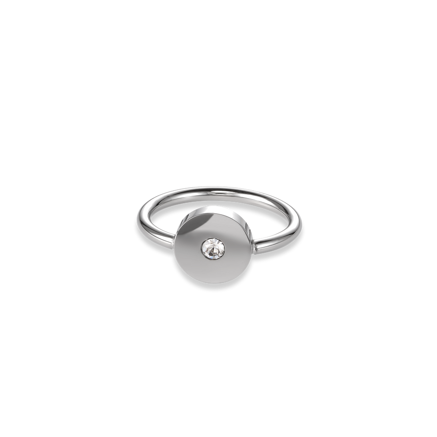Ring SparklingCOINS stainless steel silver