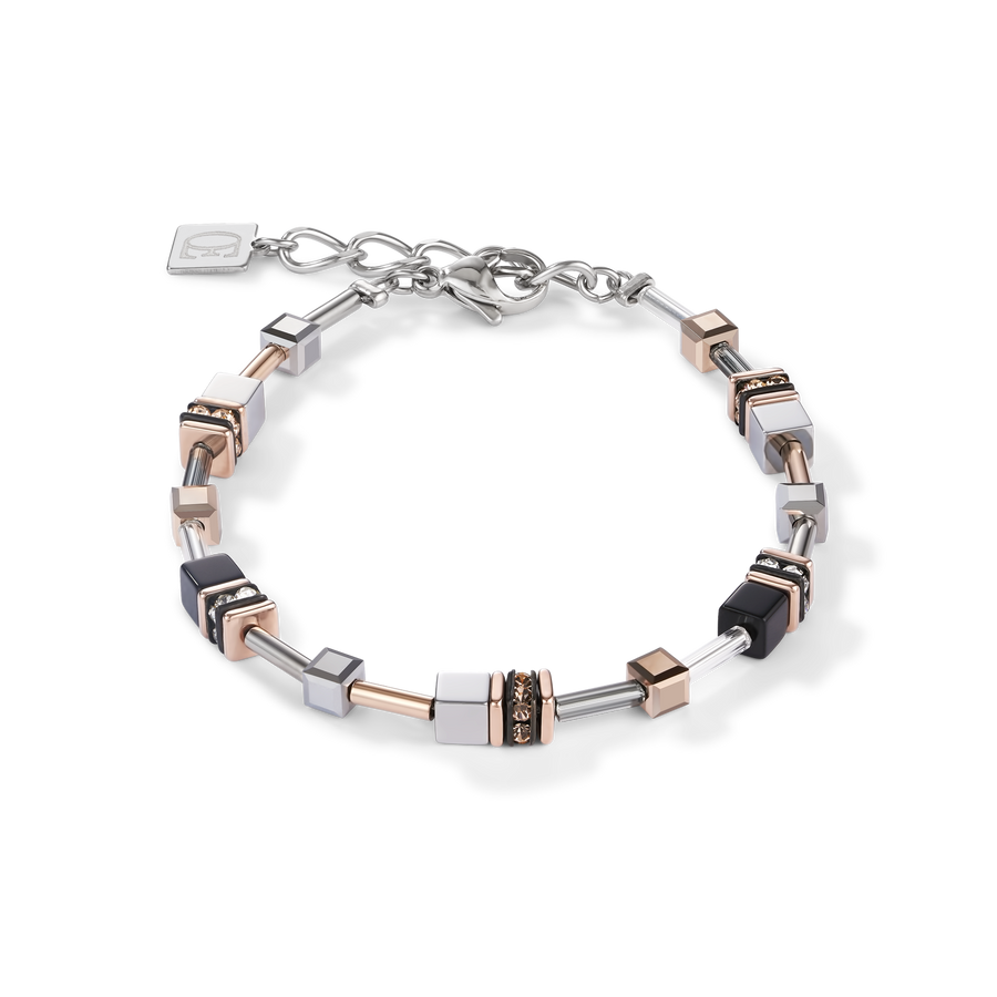 Bracelet GeoCUBE® Multitask 4-in-1 rose gold-silver