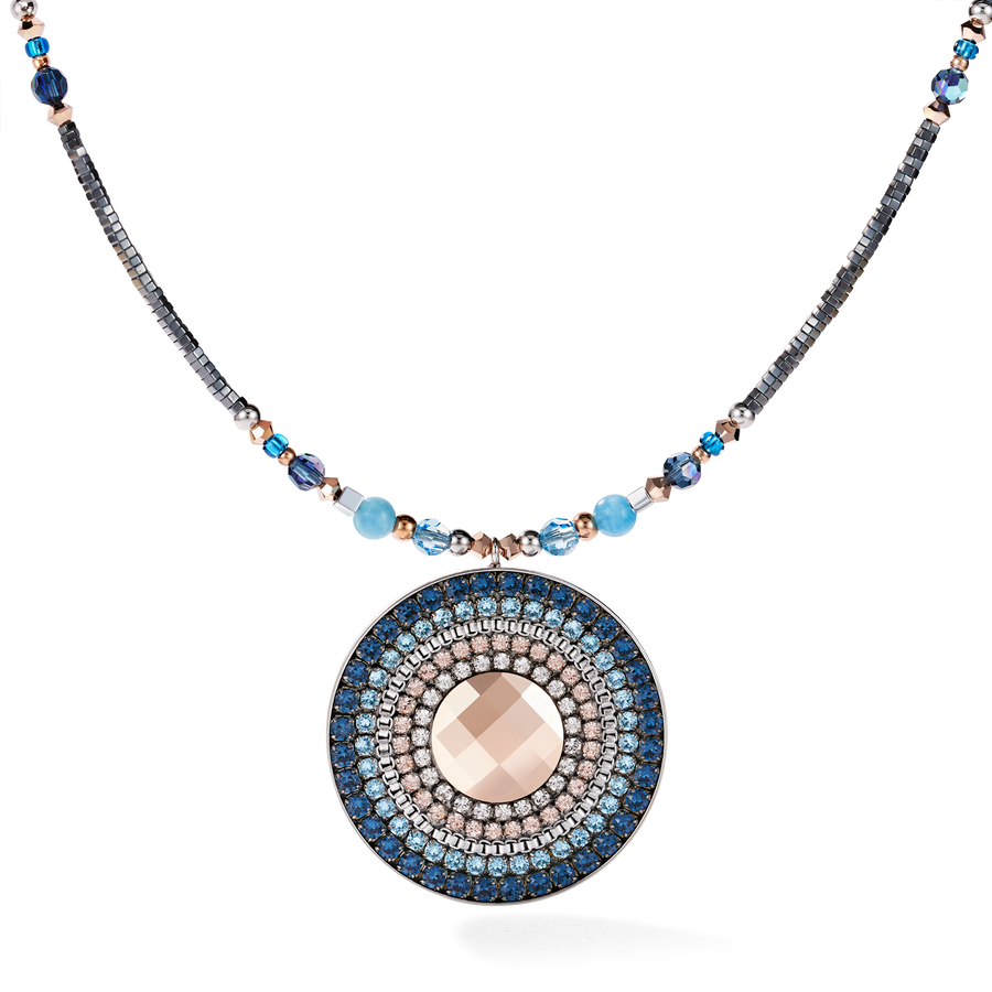 Necklace Amulet small Swarovski® Crystals & amazonite montana