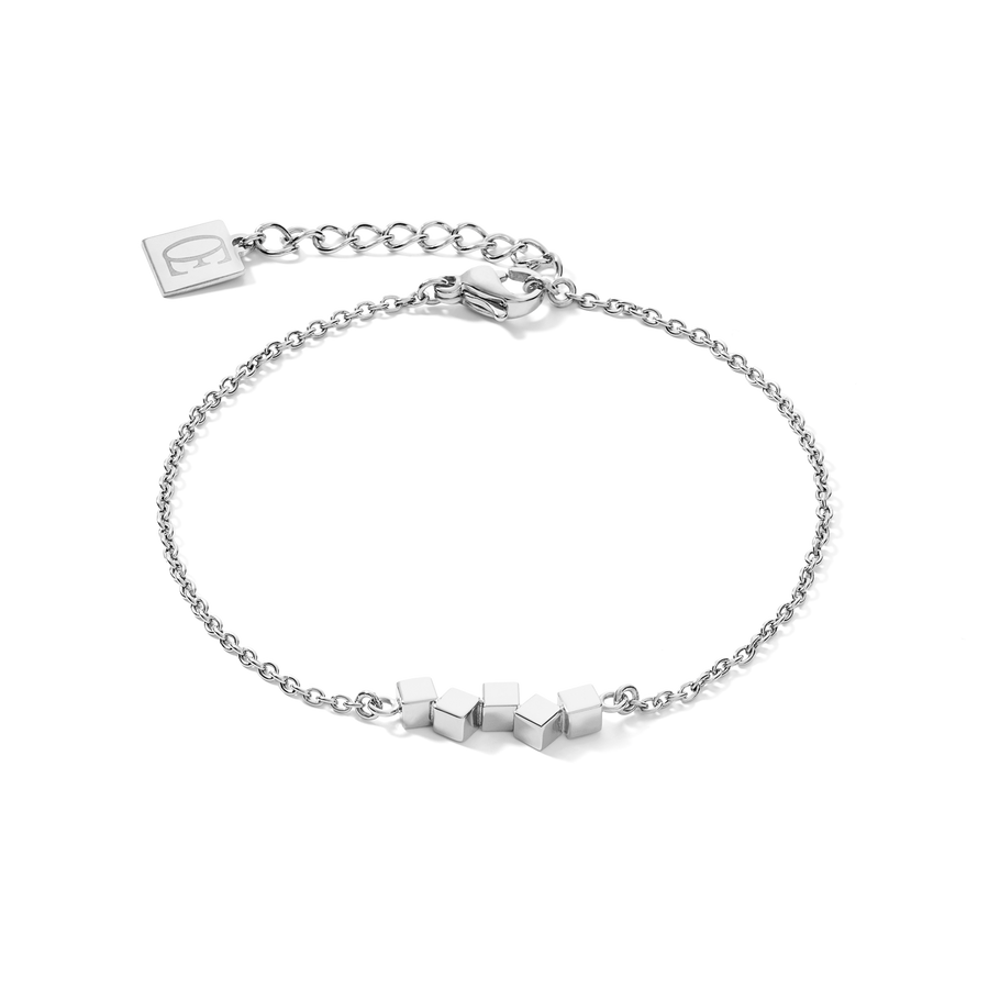 Bracelet Dancing GeoCUBE® small stainless steel silver
