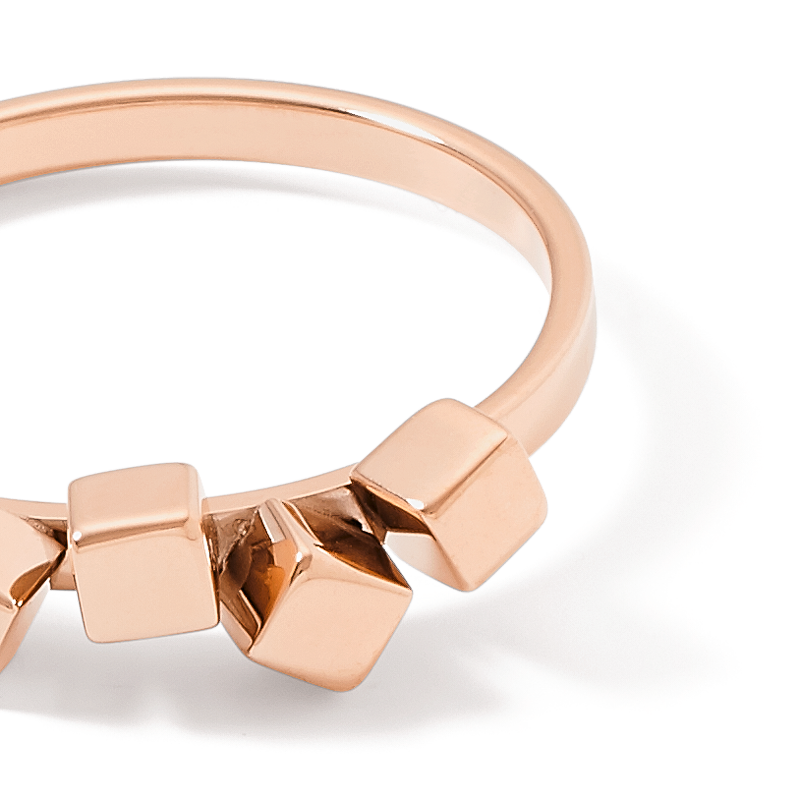 Ring Dancing GeoCUBE® small stainless steel rose gold