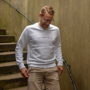 The London - Men's Sweatshirt - White/Black