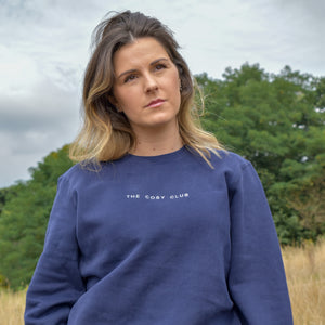 The London - Women's Sweatshirt - Navy/White