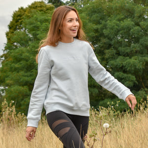 The London - Women's Sweatshirt - Baby Blue/White