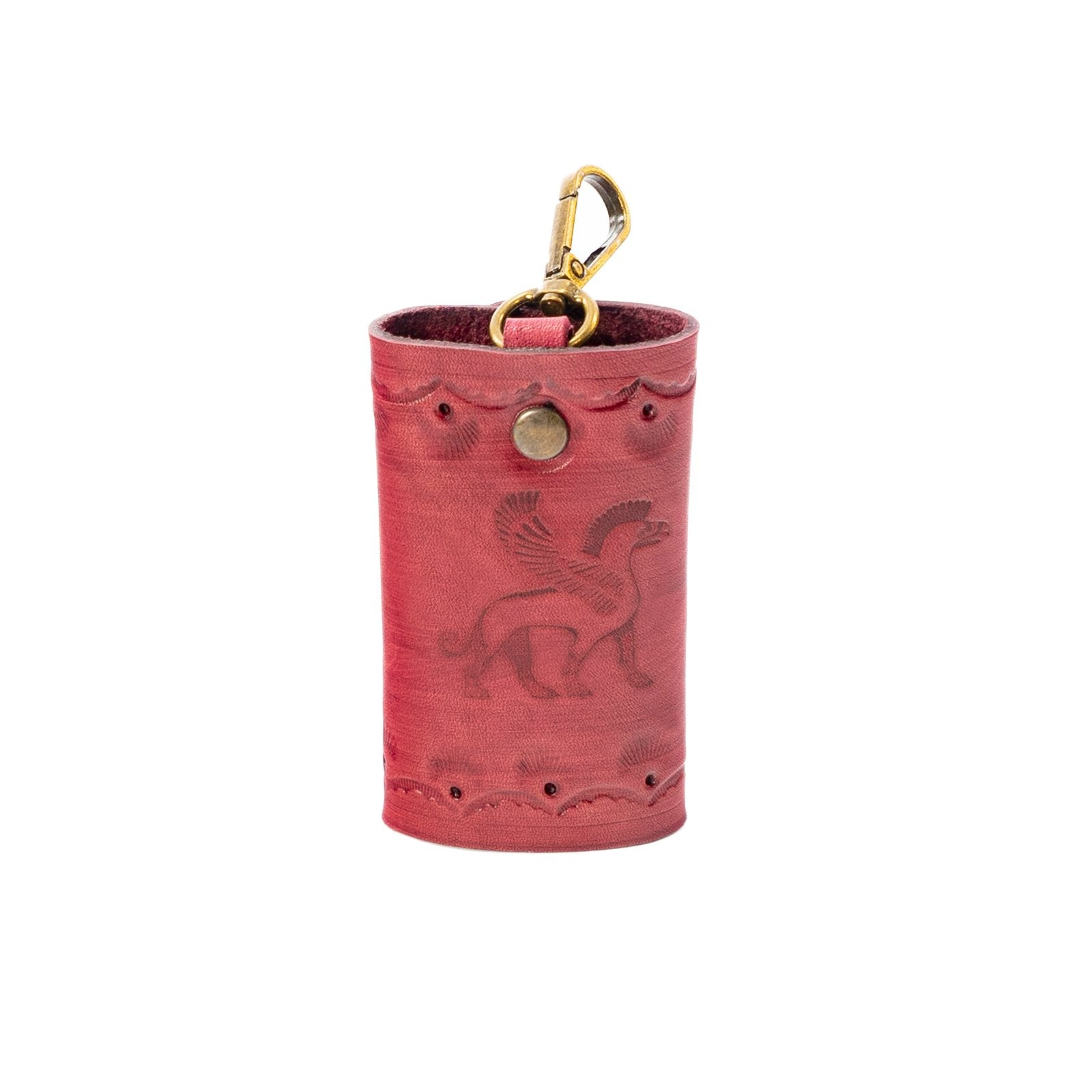 Derifix Ortella Red Handmade Leather Keyholder