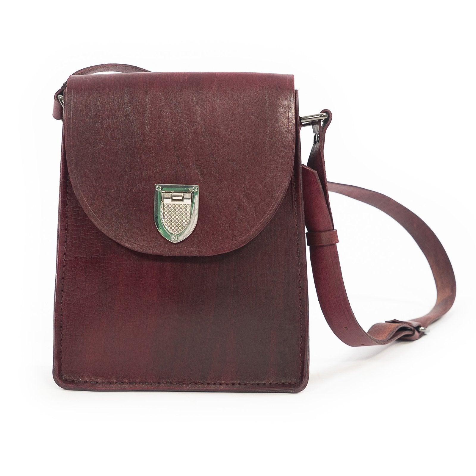 Derifix Gala Claret Red Women's Handmade Leather Bag