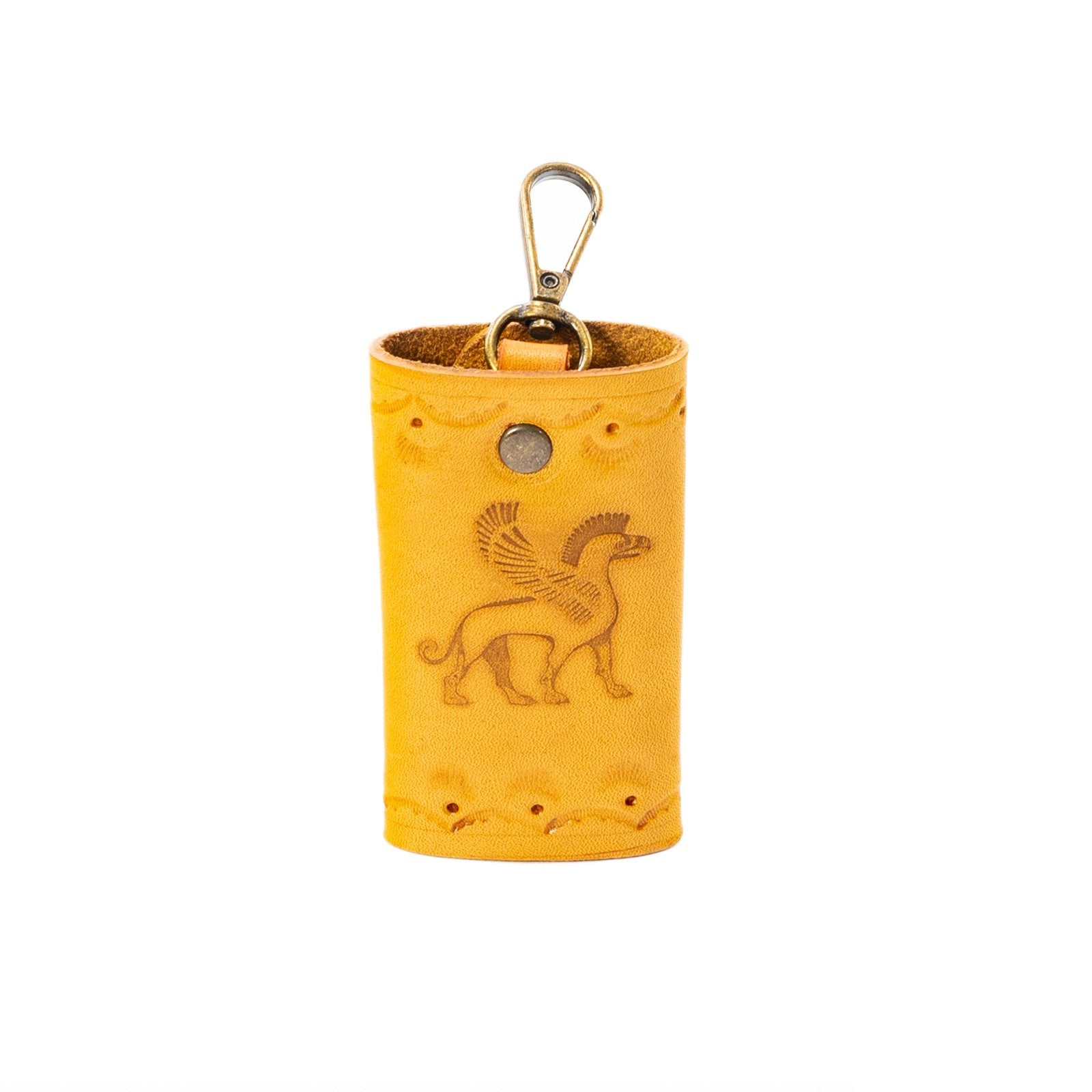 Derifix Ortella Yellow Handmade Leather Keyholder