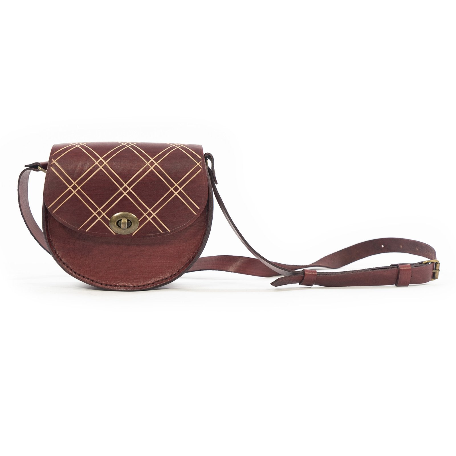 Derifix Joya Claret Red Women's Handmade Leather Bag