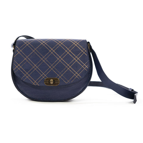 Derifix Joya Dark Blue Handmade Women's Leather Bag