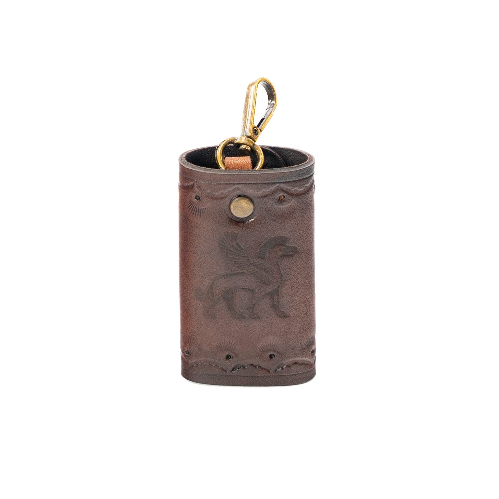 Derifix Ortella Brown Handmade Leather Keyholder