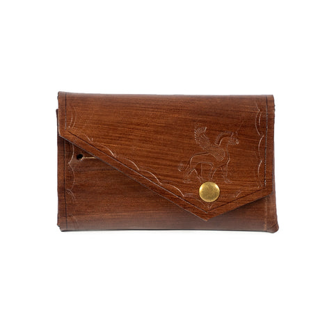 Derifix Lidya Brown Handmade Leather Cardholder