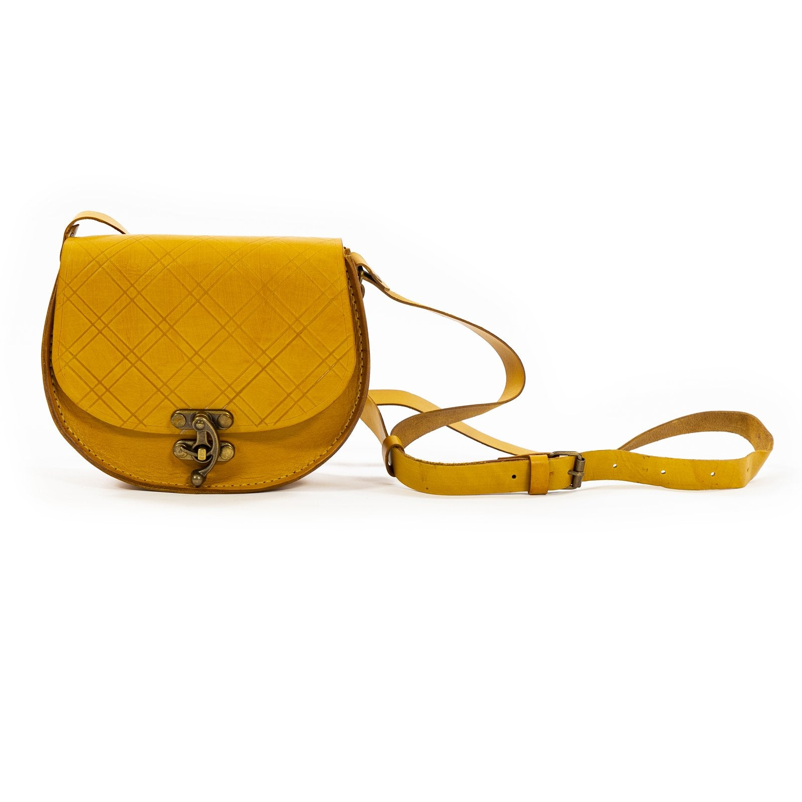 Derifix Joya Yellow Handmade Women's Leather Bag