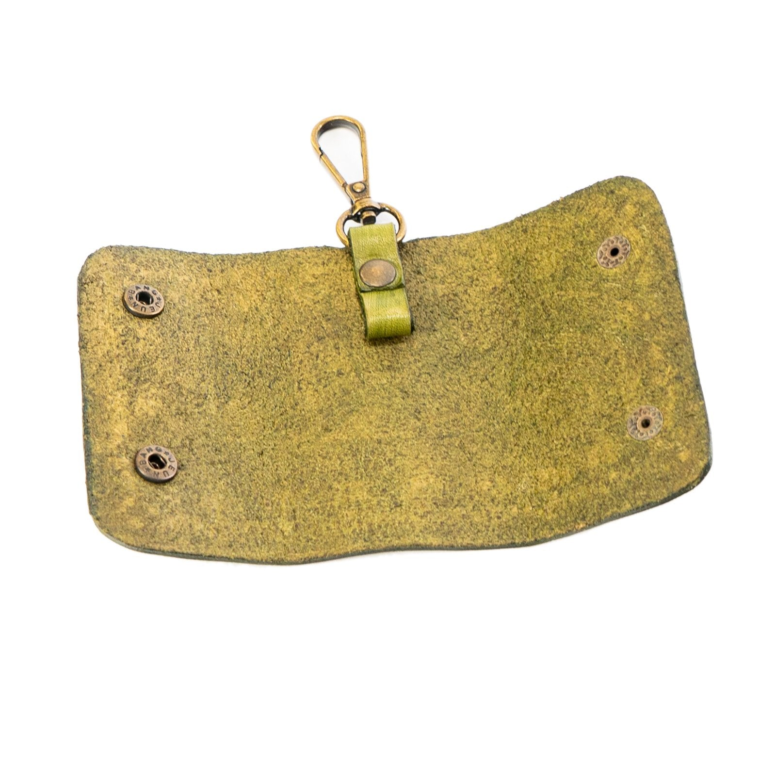 Derifix Ortella Green Handmade Leather Keyholder