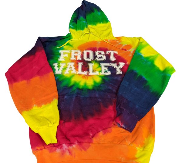 Tie Dye Hooded Pullover Sweatshirt