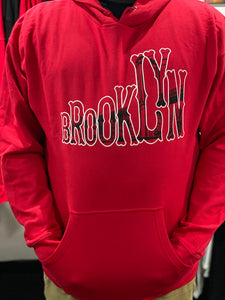 "Red ""Brooklyn Bridge"" Hoodie"