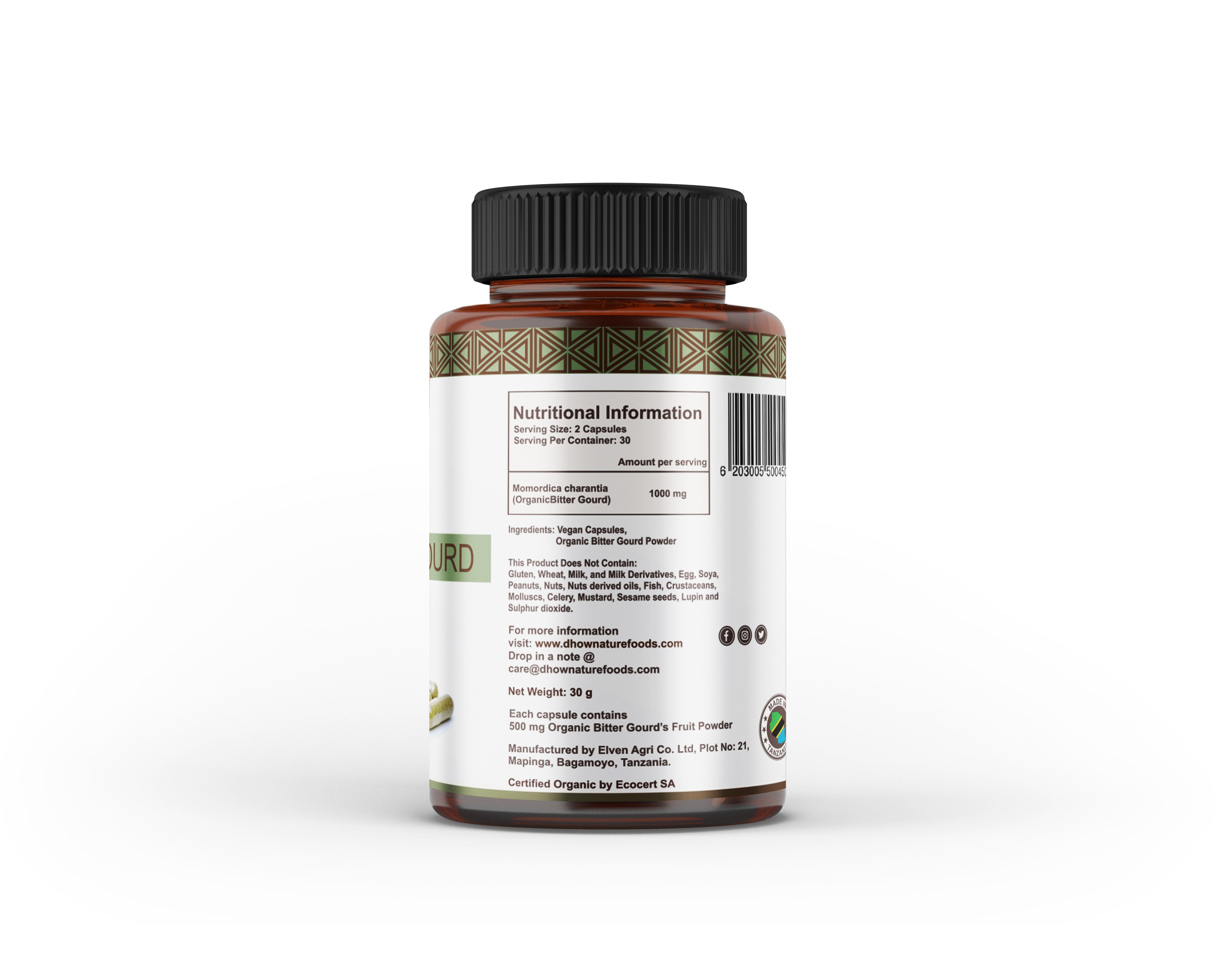 Dhow Nature Foods Organic Bitter Gourd Capsule