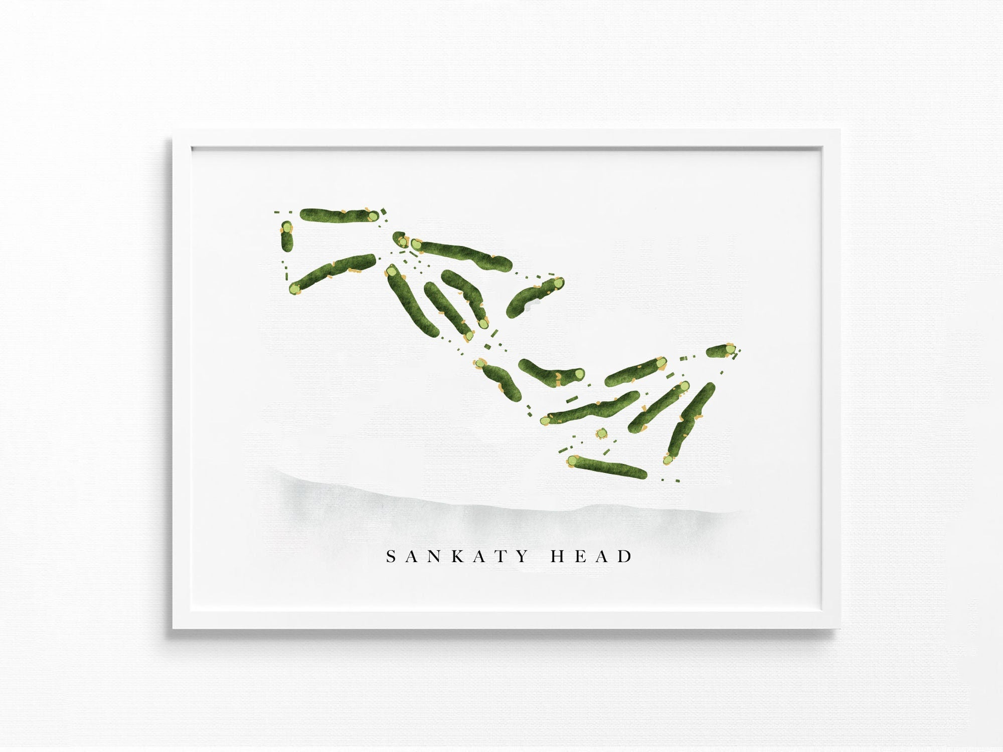 Sankaty Head Golf Club | Siasconset, MA | Golf Course Map, Golfer Decor Gift, Scorecard Layout | Watercolor-style Print UNFRAMED